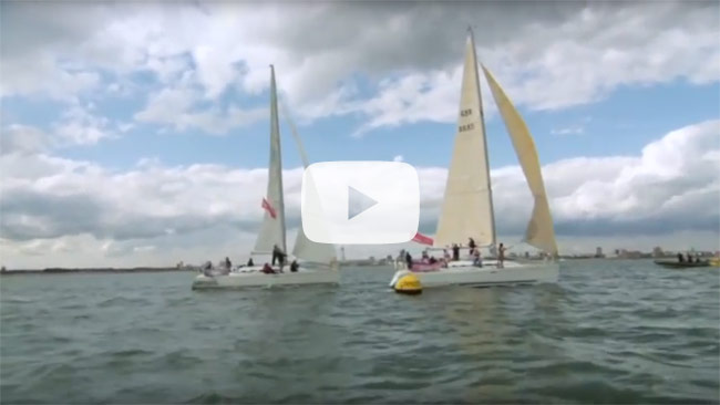 Team Sailing Race on the Solent