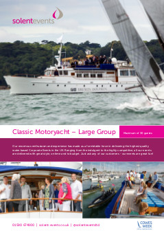 Classic Motoryacht - Large Group