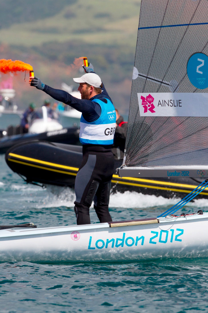 London 2012 Olympic Games sailor Ben Ainslie wins Gold