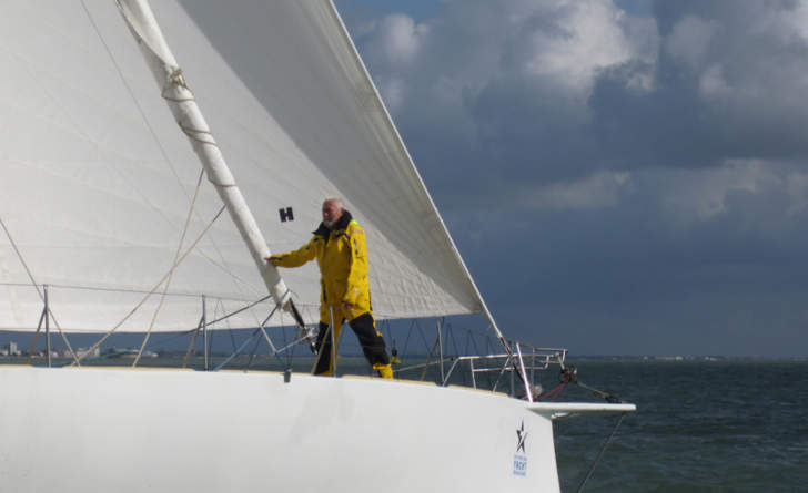 Sir Robin Knox-Johnston Finishes Route Du Rhum