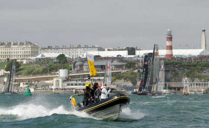America's Cup on the water hospitality