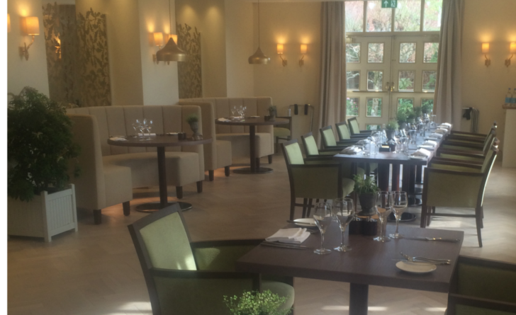 new restaurant in local Hotel Careys Manor, Brockenhurst