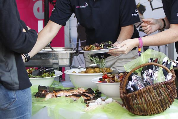 Cowes Week hospitality - buffet