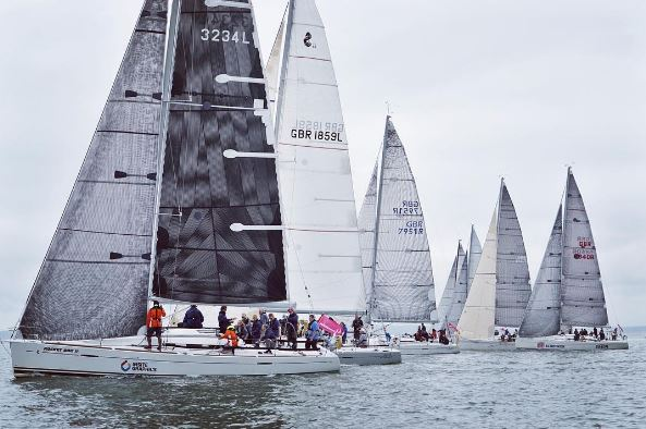 Racing yachts regatta