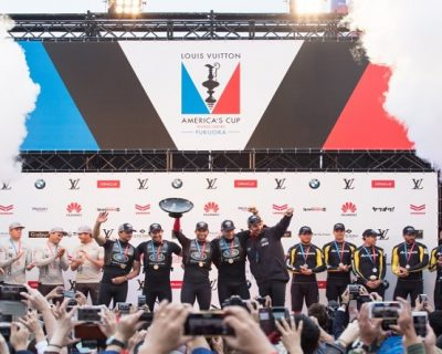 Land Rover BAR win the America's Cup World Series!