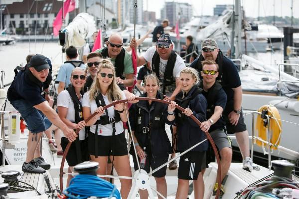 Corporate regatta sailing