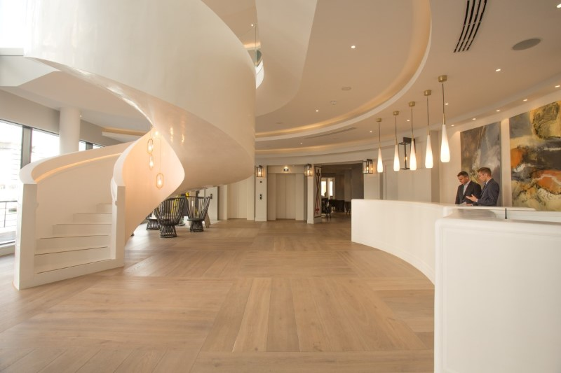 Harbour Hotel and Spa entrance and reception area
