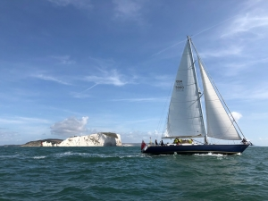 Vintage racing yacht for corporate events