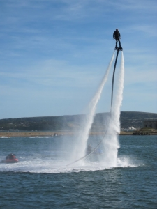 Fly boarding at Solent birthday Event