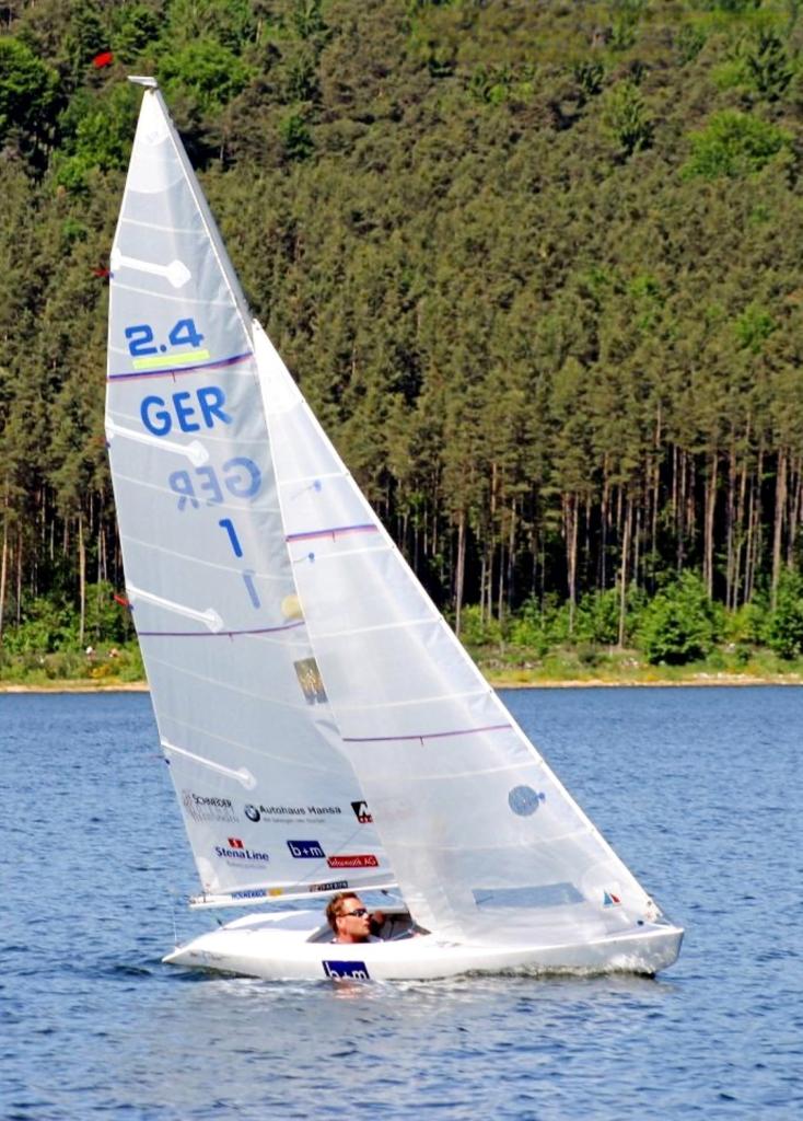 Helena Lucas MBE sailing