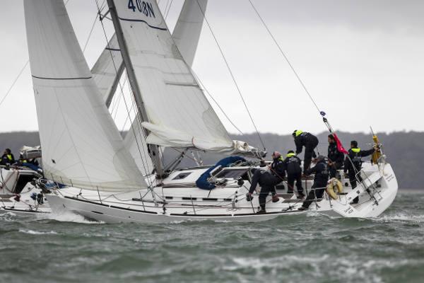Team sailing day