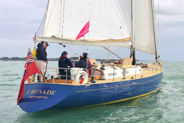 Classic yacht sailing days