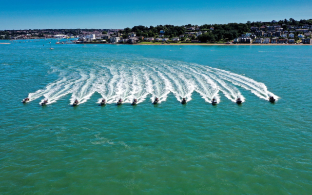 Solent Event Ribs in formation