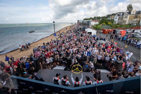 Cowes SailGP Crowds