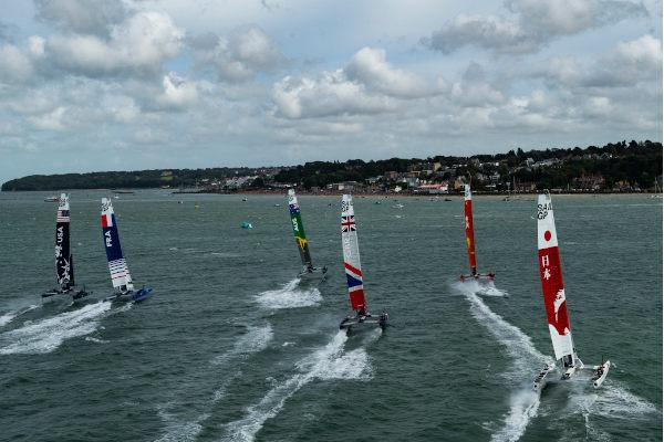 SailGP Cowes F50 fleet